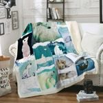 Polar Bear Family And Me Sofa Throw Blanket P371