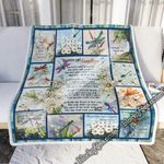 You Never Said Goodbye, Dragonfly  Sofa Throw Blanket