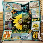 Nurse Sunflower. She�s � Nurse, A Sunflower, Strong And Bold And True To Herself Quilt Blanket