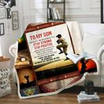 Baseball, To My Son Sofa Throw Blanket Th524