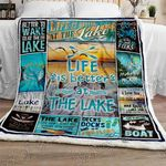 Life Is Better At The Lake Sofa Throw Blanket