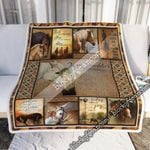 My Daughter, Just Remember The Ride Goes On, Love Dad, Horse Sofa Throw Blanket