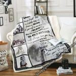 To My Grandson, Raccoon Sofa Throw Blanket SLB38