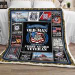 Coast Guard Veteran Sofa Throw Blanket