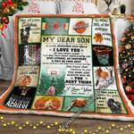 My Dear Son, Basketball  Sofa Throw Blanket