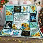 To My Granddaughter, Love Grandma, Butterfly  Sofa Throw Blanket
