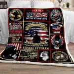 Women Veterans Sofa Throw Blanket