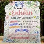 An Meine Enkelin - Denke Immer Daran, Dass Oma Dich Liebt Blanket