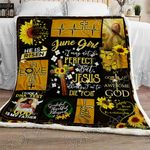 June Girl Jesus Think I'm To Die For Sofa Throw Blanket