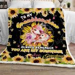 Granddaughter You Are My Sunshine Sofa Throw Blanket