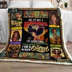 I Am A Black Queen Sofa Throw Blanket