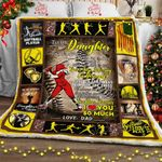 Daughter, Never Stop Believing In Yourself - Softball Sofa Throw Blanket