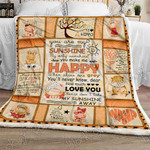 My Sunshine, Grandma To Granddaughter Sofa Throw Blanket SHB010