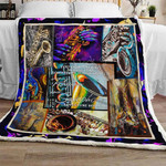 Saxophone Sofa Throw Blanket Th755