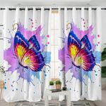 Watercolor Butterfly Curtains