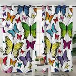 Colorful Butterflies Motif Curtains
