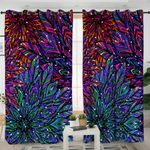 Mystique Patterned Leaves Curtains