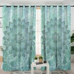 Green Mandala Curtains