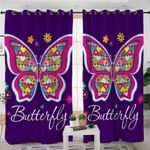 Flower Butterfly Curtains