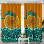 Stylized Leap Back Dolphin Curtains
