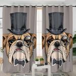 Gentlemen Bulldog Themed Curtains