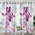 Pink Giraffe Curtains