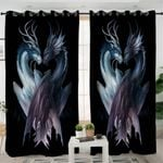 Contrast Dragons Black Curtains