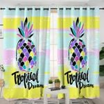 Tropical Pineapple Themed Curtains