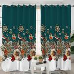 Stylized Flowers & Birds Curtains