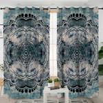 Vintage Gray Mandala Themed Curtains