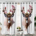 Flower Elk Themed Curtains