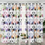 Colored Panda Cubs Curtains