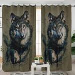 Wolf Portrait Curtains
