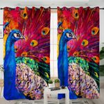 Oilpainted Peacock Curtains