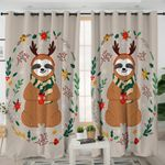 Christmas Themed Sloth Curtains