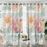 Light Watercolor Flower Curtains