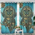Golden Jade Owl Curtains