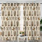 Tribal Themed Milk Curtains
