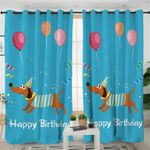 Dachshund Birthday Curtains