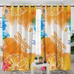 Garden Themed Orange Curtains