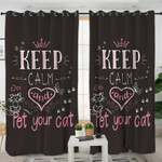 Keep Calm & Pet Your Cat Curtains