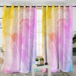 Abstract Pastel Curtains