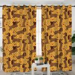Funny Kid Dachshund Curtains