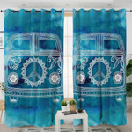 Peace Sign Bus Curtains