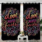 Love Quote Curtains