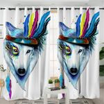 Warchief Wolf Curtains