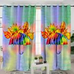 Rainbow Umbrella Curtains