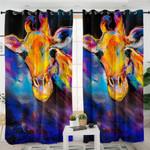 Giraffe Mugshot Curtains