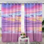 Pink Sunrise Beach Curtains