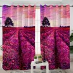 Lavender Fields Sunset Curtains